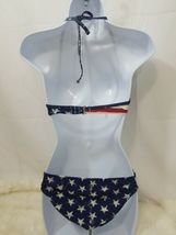 Xhilaration Q Junior Girls  2 Piece American Flag Bikini Medium Top  image 3