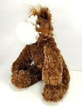 UNIPAK Horse Plush Brown Neighs Noise Stuffed Animal Pony Halter bridle ... - $15.14