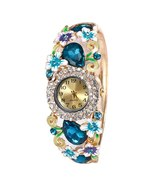 Luxury Women Round Full Crystal Rhinestone Bracelet Watch Steel Strip #S... - $17.99