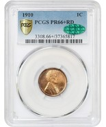 1910 1c PCGS/CAC PR 66+ RD - Pristine Gem Proof - Lincoln Cent - $9,680.60