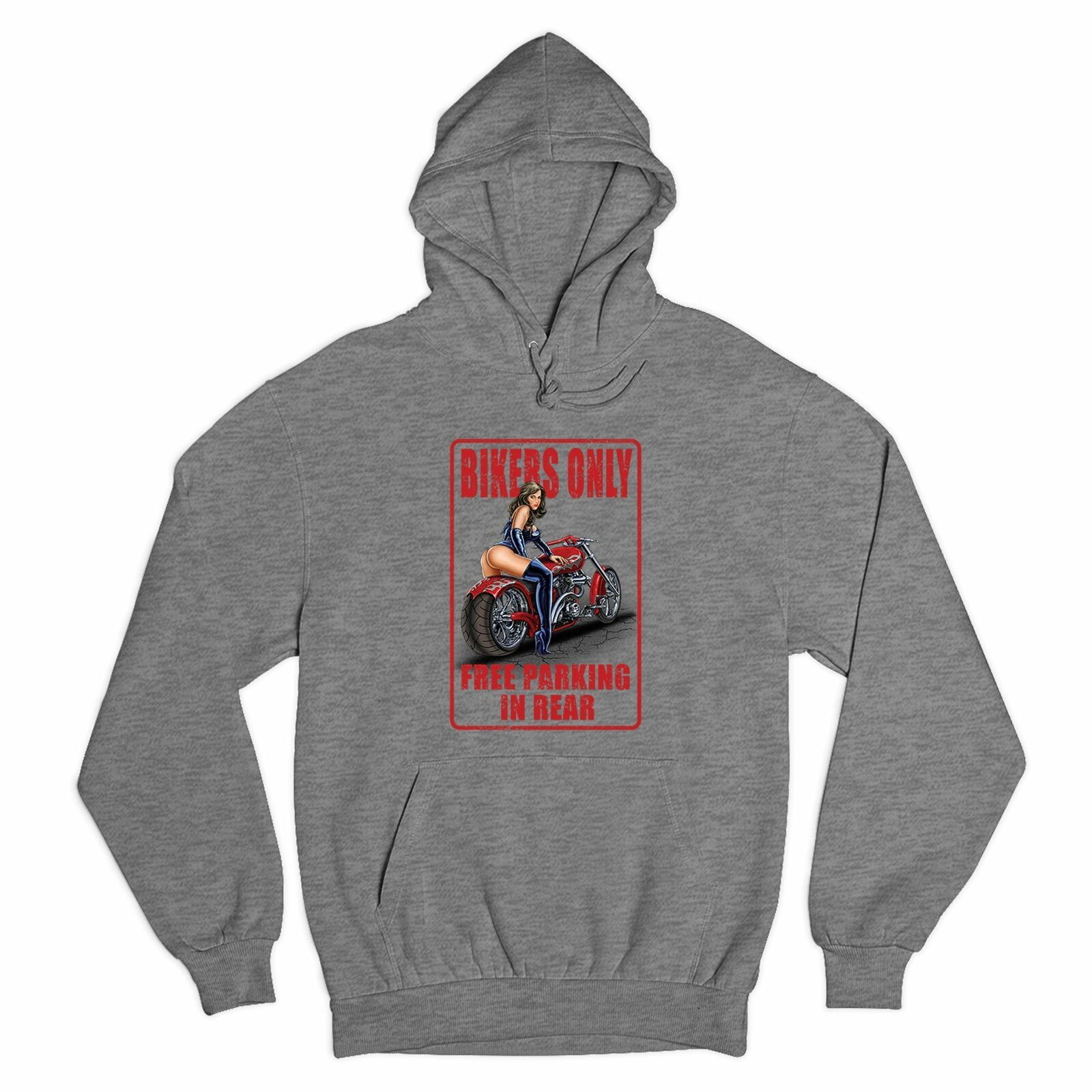 Primary image for Bikers Only Free Parking In Rear Sweatshirt Funny Pin-Up Biker Chick Hoodie