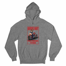 Bikers Only Free Parking In Rear Sweatshirt Funny Pin-Up Biker Chick Hoodie - $25.45+