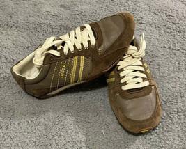 NICE! Diesel Parapat Women's Sneakers Brown Suede Leather Size US 5.5 EUR 35.5 - $49.99
