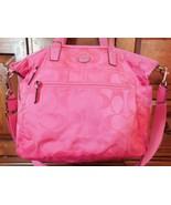 Coach Multifunction Nylon Pink Signature Diaper Bag 77577 - $54.00