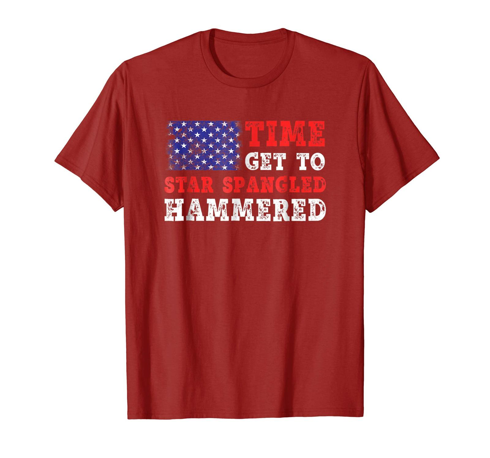 Brother Shirts - Time To Get Star Spangled Hammered T-Shirt Fourth of July Men image 2