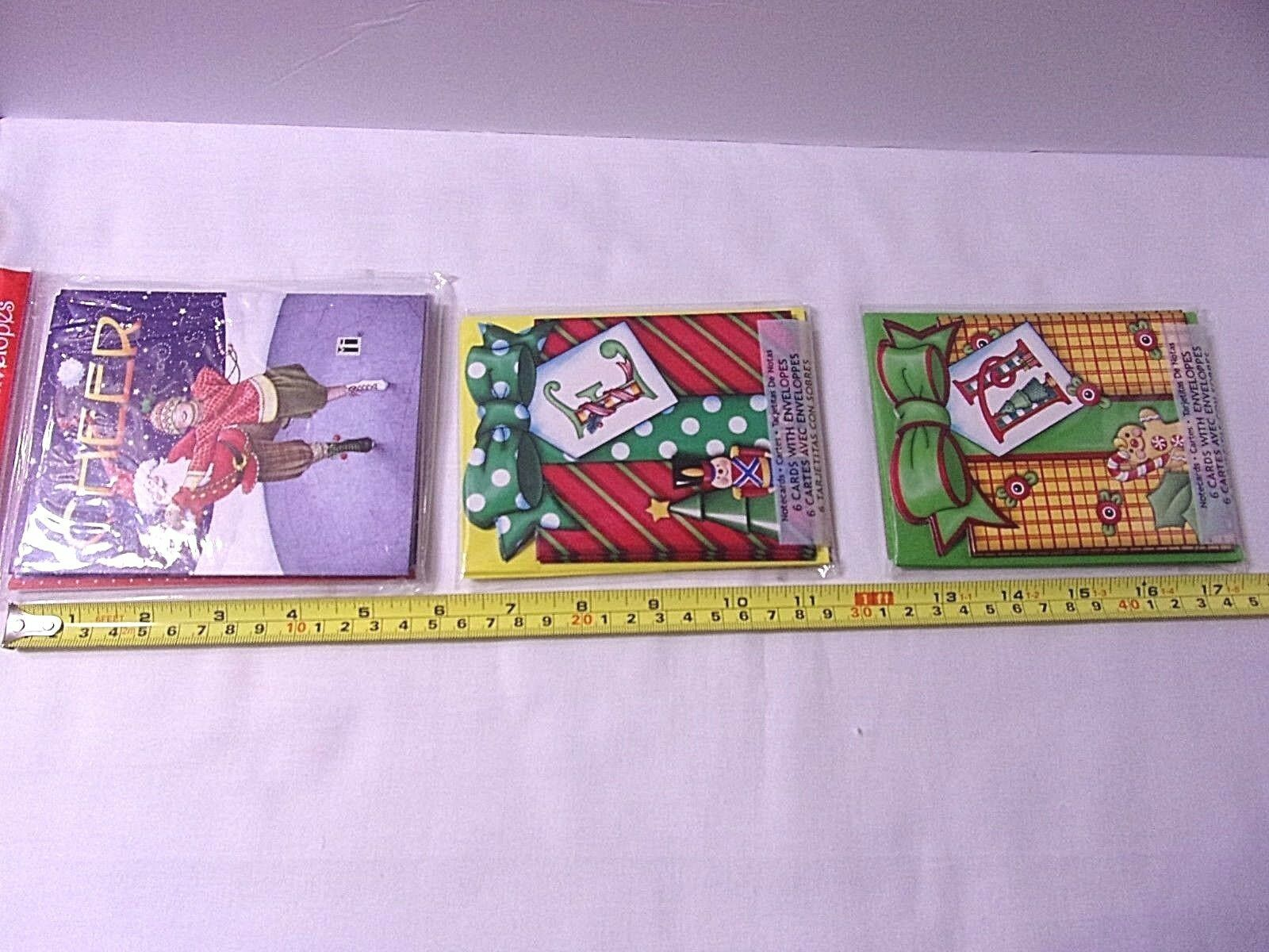 Christmas Mary Engelbreit Lot Bloom Planted Ornament + 3 Packs NEW Note cards ME