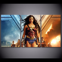 3 Pcs Wonder Woman Diana Prince Wall Pictures Home Decor Printed Canvas ... - $39.99+