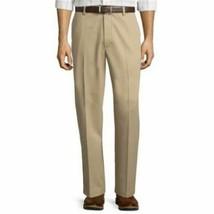 Men's St. John's Bay Easy Care Classic Fit Flat Front Pants Size 40x32