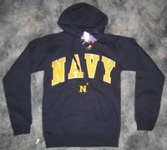 NEW NAVY MIDSHIP MEN HOODED SWEATSHIRT SMALL HOODIE NWT S SM - $29.92