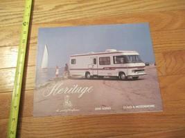 Heritage Motorhome 2000 series RV Camping Vintage Dealer sales brochure - $14.99