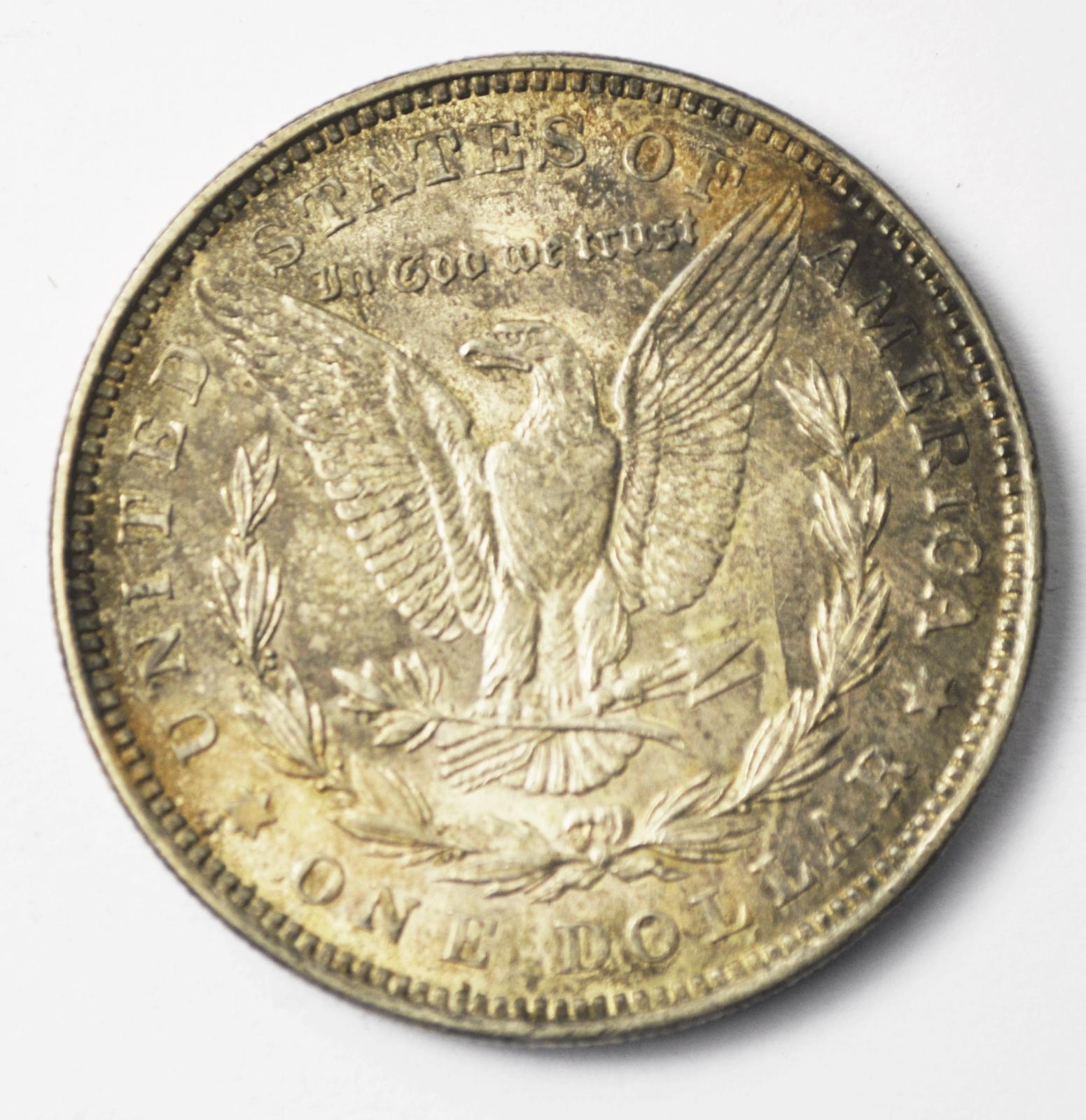 1921 $1 Morgan Silver One Dollar US Philadelphia VAM 3E2 Pitted Reverse