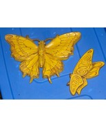 """Butterflies to Hang 1970's Yellow Color Very Detailed Large One 11"""" Wide... - $19.99"""
