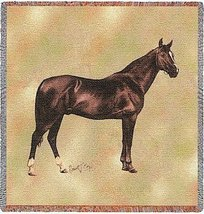 Anglo Arabian Lap Square - 54 x 54 Blanket/Throw - $49.95