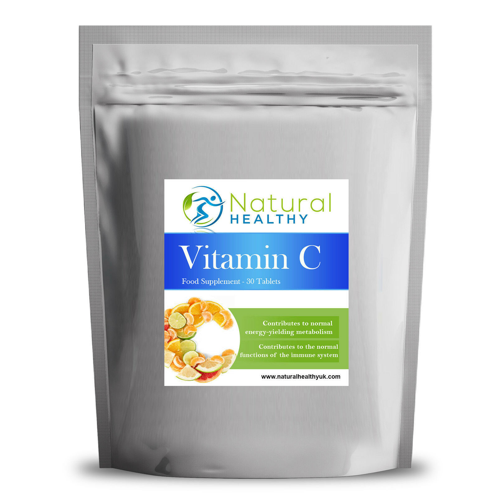 Primary image for 30 PREMIUM VITAMIN C TABLETS - WITH ROSEHIP AND BIOFLAVONOIDS - IMMUNE SYSTEM