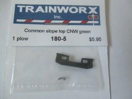 Trainworx Stock #180-5 Snowplow Common Slope Top CNW Green N-Scale image 1