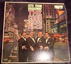 Vtg 1959 The Four Aces ?– Hits From Broadway Decca ?– DL 8855  Album LP ... - $4.50