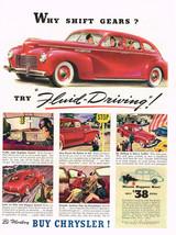 Vintage 1940 Magazine Ad Chrysler Be Modern Buy Chrysler & Try Fluid-Driving - $5.93