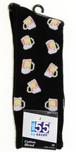 Beer Mugs Mens Novelty Black Crew Socks Casual Cotton Blend Fun Drinking... - $12.95