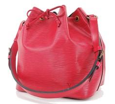 Auth LOUIS VUITTON Petit Noe Red Epi Leather Shoulder Tote Bag Purse #28291 - $519.00
