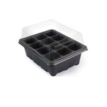 12 Grow Trays with Humidity Dome and Cell Insert - Mini Propagator for S... - $28.06