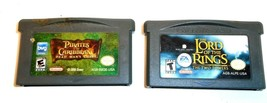 NINTENDO GAME BOY ADVANCED PIRATES OF THE CARRIBEAN/LORD OF THE RINGS 2 ... - $13.61