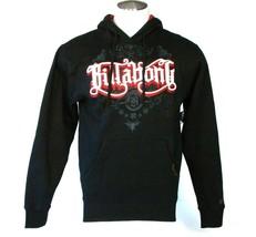 Billabong Signature Black Pullover Hooded Sweatshirt Hoodie Men's NWT - $48.74
