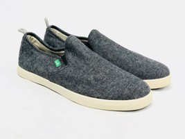 Sanuk Range Tx Slip On Loafers Black Chambray Men's Shoes SMF10971 Yoga Mat New - $39.99
