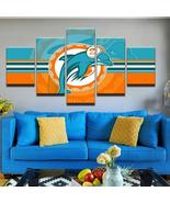 Miami Dolphins Painting On Canvas Wall Art Poster Print Home Decor - $39.00+
