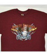 Harley-Davidson Columbia Tenn Red Short Sleeve T-Shirt Men's Large Flami... - $28.88