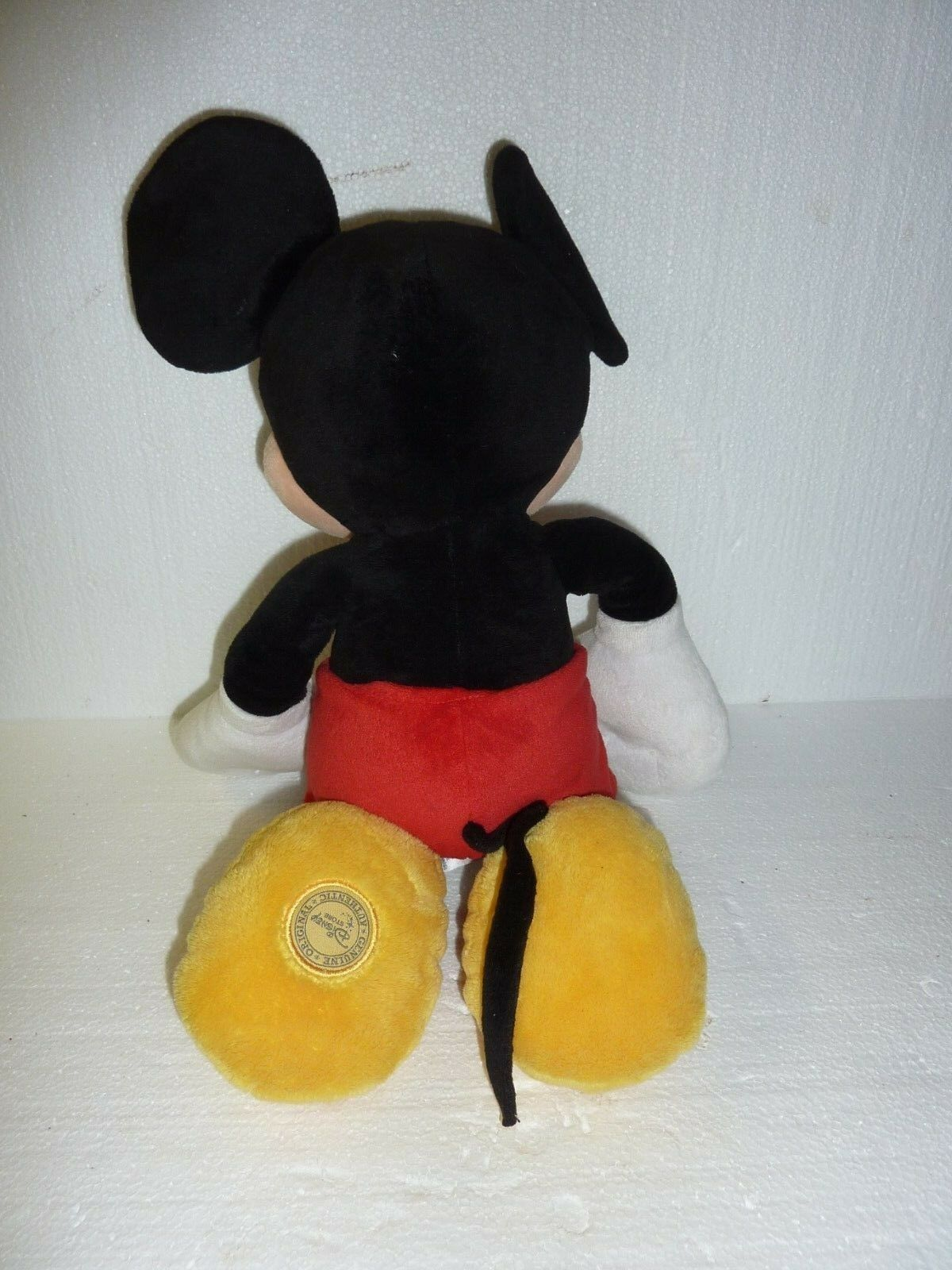 "Disney Store Mickey Mouse Plush 18"" Exclusive Authentic Logo Stuffed Animal C-10 image 3"