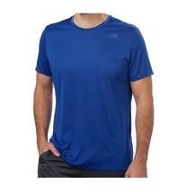 Adidas Men's Performance climalite Short Sleeve Crew Neck, Blue, Size Me... - $14.84
