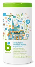 Babyganics All Purpose Wipes, Fragrance Free, 75 ct