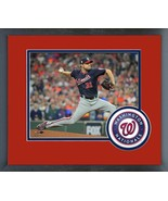 Max Scherzer Game 7 of the 2019 World Series-11x14 Team Logo Matted/Fram... - $42.95