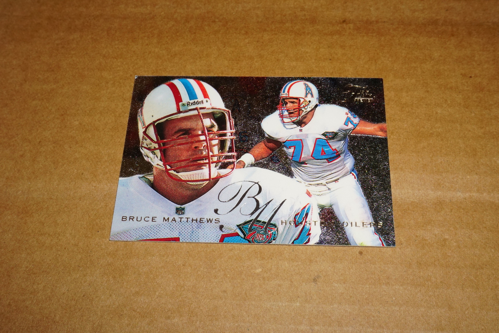 1995, Houston Oilers, Bruce Matthews 12 out of 30, NFL Card