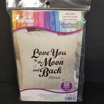 """Love You To Moon & Back Janlynn Needlecraft  Stamped Pillow Kit  14"""" x 14""""  New - $12.59"""