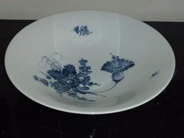 """Royal Copenhagen Denmark 45/3480 Large Blue Floral Serving Bowl 12"""" - $79.00"""