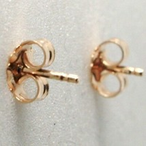 Silver Earrings 925 Laminated in Rose Gold le Favole with Horse to Rocking image 2