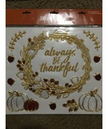 FALL Season Bling Clings Celebrate The Season Pumpkins Acorns Gold/marbl... - $18.29