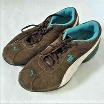 Womens Puma Turin Brown Suede Leather Sneakers Shoes 9 - $44.99