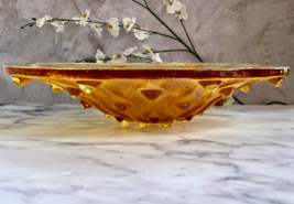 """Lalique Crystal Large Amber Serpentine Centerpiece Bowl 15"""" Diameter Mint Signed - $2,127.51"""