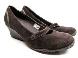 Merrell Vibram Petunia Mary Jane Suede Shoes Size 8.5 Air Cushion Walnut... - $38.61