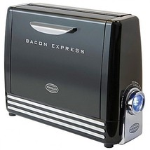 Bacon Express Electric Grill Nostalgia COOK HEALTHY CRISPY FOOD Maker BC... - €34,87 EUR
