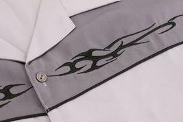 Men's Casual Two Tone Biker Cross Premium Guayabera Bowling Dress Shirt image 13