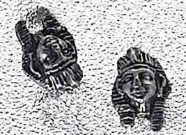 NICE Pharaoh Egypt Sterling Silver Egyptian Stud Earrings - $19.61