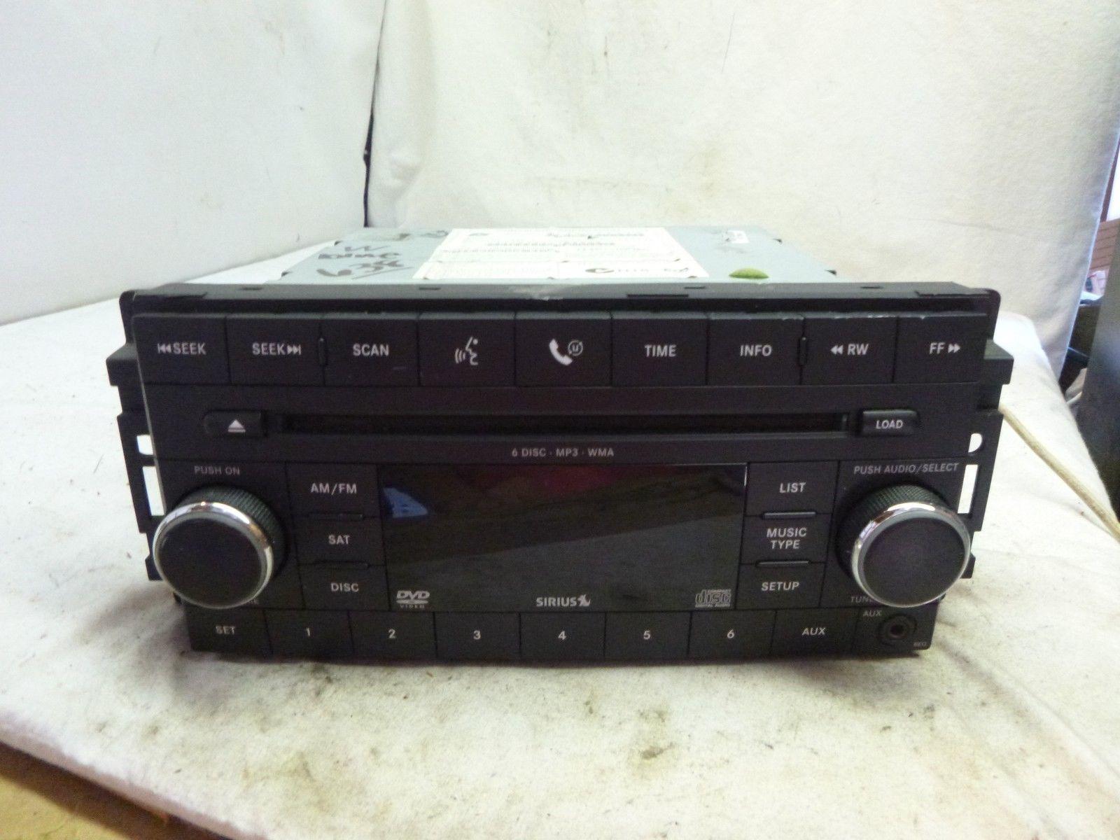08-10 Dodge Chrysler Jeep  Radio 6 Cd Changer UC Sirius Dvd Mp3 05064922AG BF638