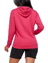 Women's Soft Lightweight Pull Over Sweatshirt Casual Drawstring Hoodie Sweater image 8