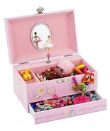 Ballerina Music Jewelry Box With Melody Is Swan Lake Pink - $44.08
