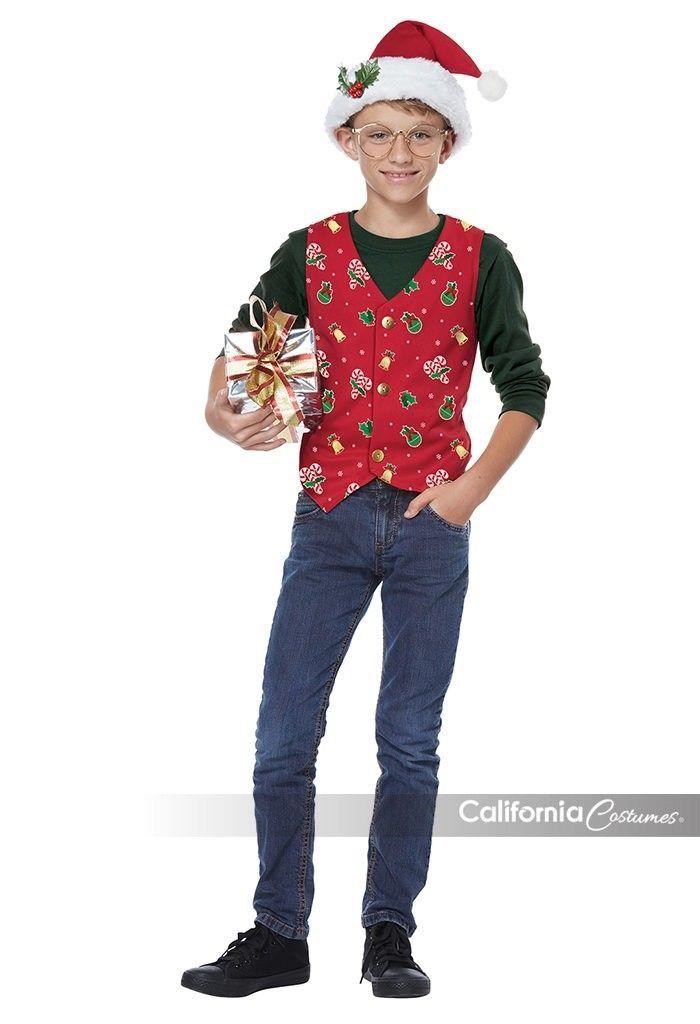 California Costumi Vacanza Canotta Rosso Bambini Ragazze Natale Costume 00546