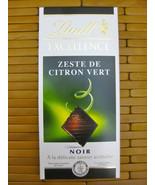 LINDT EXCELLENCE ZESTE CITRON VERT LIME Dark Chocolate Bar 3.5 oz100 g  ... - $7.99