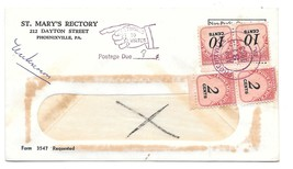 Non Profit Cover Pointing Finger Auxiliary Return To Writer Postage Due ... - $14.95